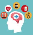 human head brain medicine symbol concept vector image