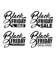 inscription black friday vector image