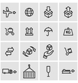line logistic icon set vector image
