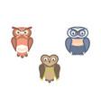 owl birds flat vector image