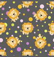 pattern with cute african lion vector image