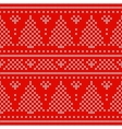 Red Holiday seamless pattern with cross stitch vector image