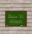 School green board on wooden texture vector image