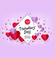 valentines day sale paper origami heart vector image