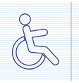 Disabled sign navy line icon vector image