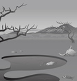 African Savannah dead vector image vector image