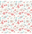 Sweet Pastel Valentine Pattern vector image