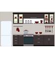 kitchen with kitchen furniture vector image