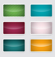 Background Set - Retro Paper Colorful Cards vector image vector image