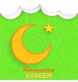 Ramadan Greetings Background vector image vector image