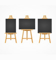 black board easel blank empty template set vector image