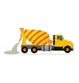 Concrete Mixing Truck in Flat Design vector image