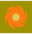 flat icon on stylish background weather vane vector image