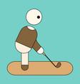 icon in flat design stick figure golf vector image
