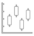 new diagram icon thin line vector image
