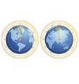 clock as globe vector image vector image
