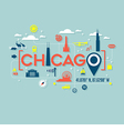 Chicago icons and typography design vector image