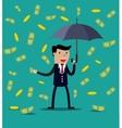 Businessman hold umbrella vector image
