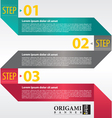 Abstract banner in three step vector image vector image