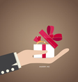 Happy valentines day Hand holding valentines day vector image
