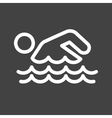 Swimming Person vector image