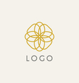 hipster logo template vector image