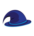 Blue witch hat vector image