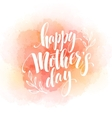 Happy Mothers Day Hand-drawn Lettering card vector image