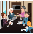 Business Meeting Office Workers with Laptops vector image