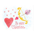 congratulation card on saint valentines day vector image