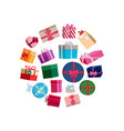 gift packages and boxes with colorful vector image