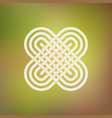 isolated abstract simmetric icon in celtic and vector image