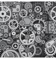 Mechanical Backdrop Seamless Pattern vector image