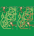 monkey maze vector image