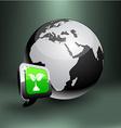 Save Earth emblem vector image