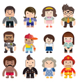 Series of cute characters occupations icons vector image