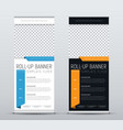 set of roll up banners for business templates of vector image
