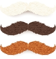 White brown and red isolated mustaches set vector image