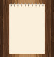 Yellow paper on lath boards vector image