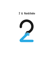 Creative 2- number icon abstract logo design vector image