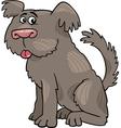 Sheepdog shaggy dog cartoon vector image vector image