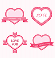 Valoentine Collection of Labels vector image vector image