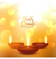 happy diwali hindu festival beautiful background vector image