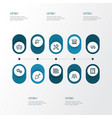 building outline icons set collection of tipper vector image