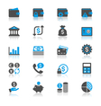 Financial management flat with reflection icons vector image