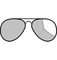 sunglasses with broken glass vector image