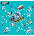 Hospital Isometric Infographics vector image