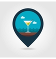Martini Cocktail pin map icon Summer Vacation vector image