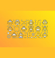 banner with robot icons on yellow vector image