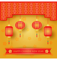 Chinese new year decoration background vector image
